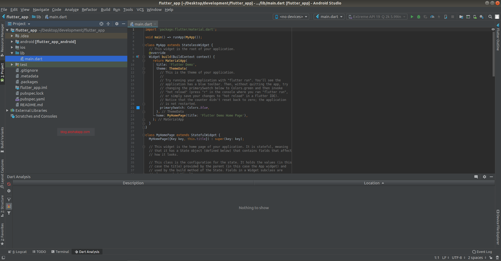 Android Studio - Flutter App Android