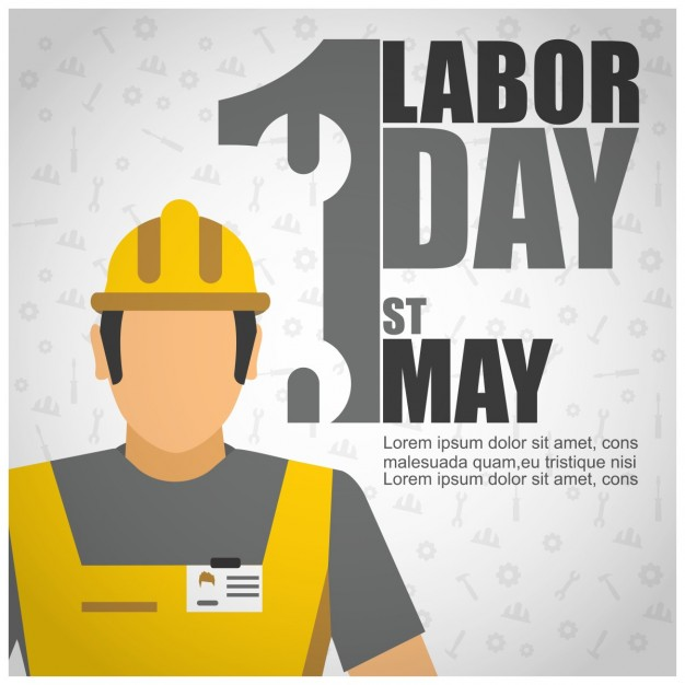Labor day worker background Free Vector