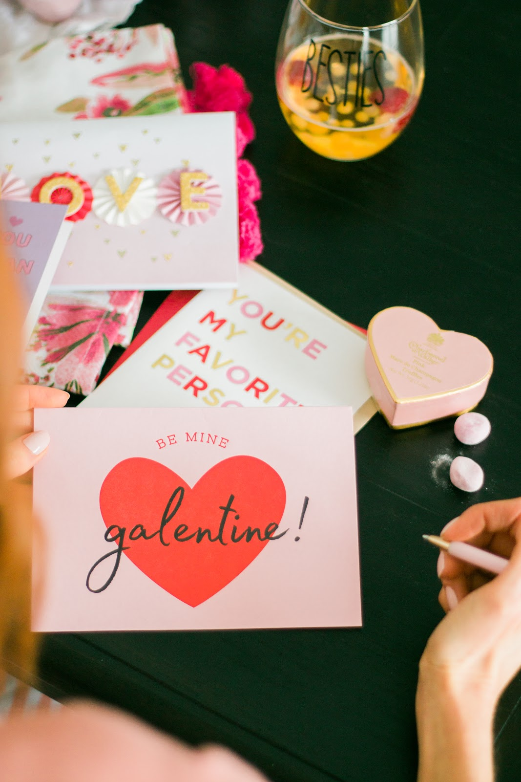 Valentine's Day baking party/ Valentine's Day cards. Be my Galentine