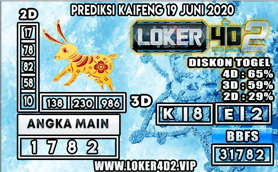 PREDIKSI TOGEL KAIFENG LOKER4D2 19 JUNI 2020