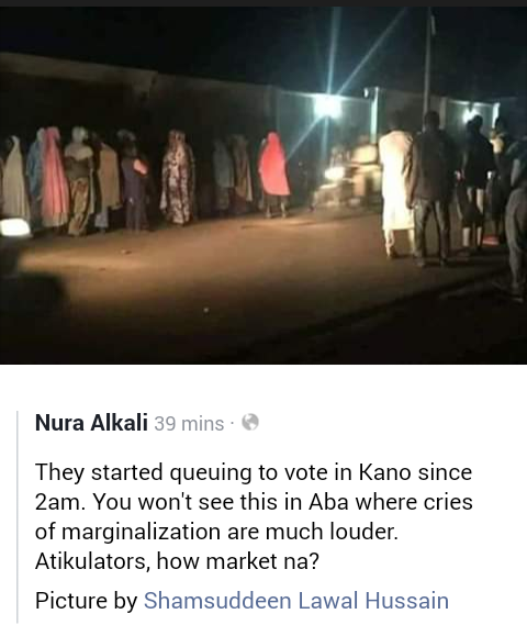 Voters Started Queuing Up In Kano Since 2:00 Am