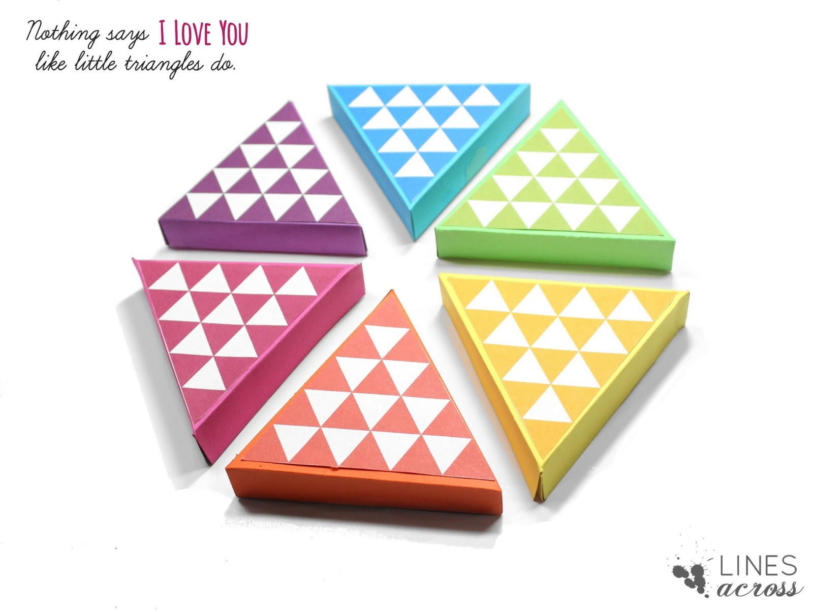 DIY Triangle Gift Boxes