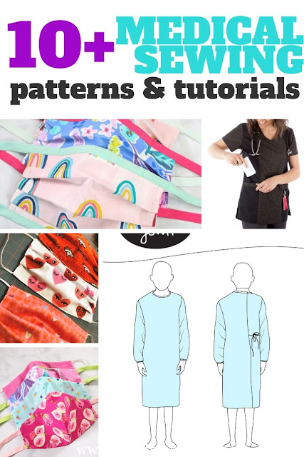 Looking to sew for the medical community you'll need face mask sewing patterns, isolation gowns and more.
