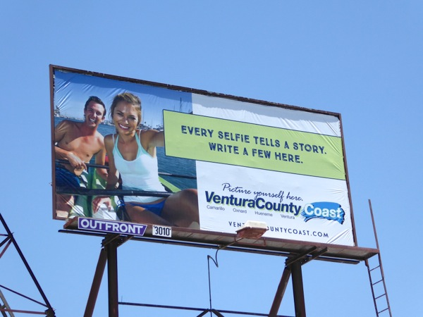 Ventura County Selfie tourism billboard