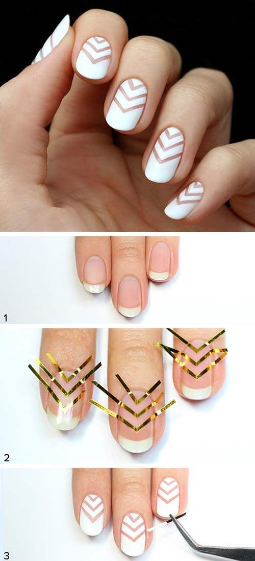 Chevron Nail Art Design