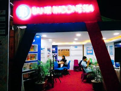 Stand Bank Indonesia di Lampung Fair 2018 Melayani Penukaran Uang Rusak