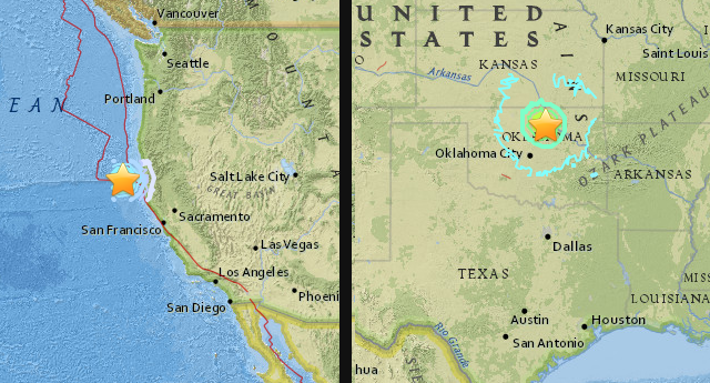 ALERTA: Dos sismos de magnitud 5,6 sacuden la costa de California y Oklahoma