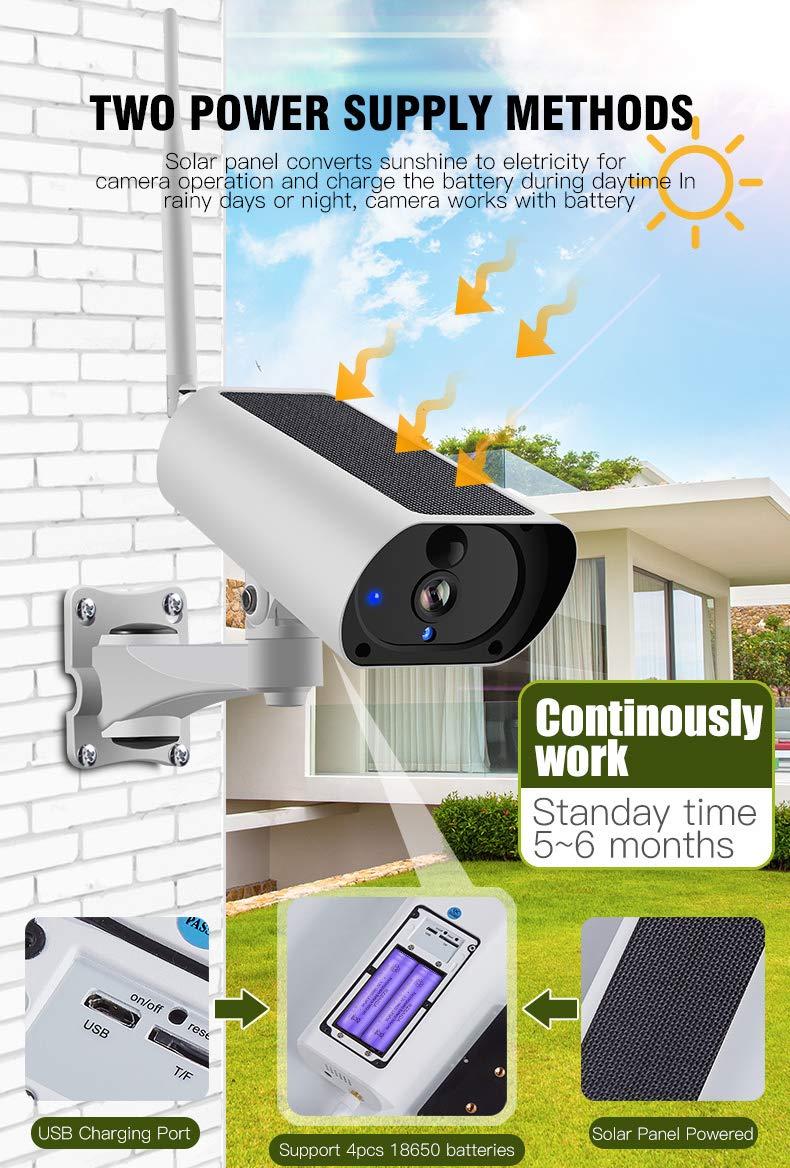 Солнечная энергия 4G sim-карта WiFi IP перезаряжаемый аккумулятор для камеры 1080P 4X зум Аудио ИК ночной вид наружная камера видеонаблюдения