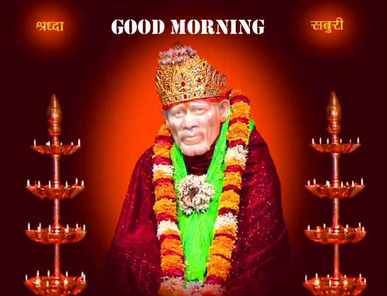 sai baba good mornings wallpaper