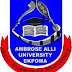 Ambrose Alli University (AAU) 2016/2017 UTME Admission Screening Results Uploaded Online