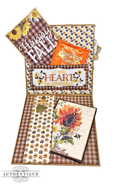 Fall Cards with Really Reasonable Ribbon Interior by Kathy Clement