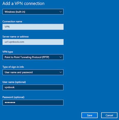 Cara Setting Akun VPN PPTP Di Windows 10