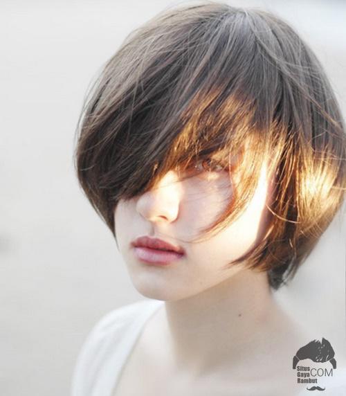 model gaya rambut pendek wanita korea