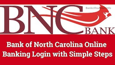 Bank of North Carolina Login