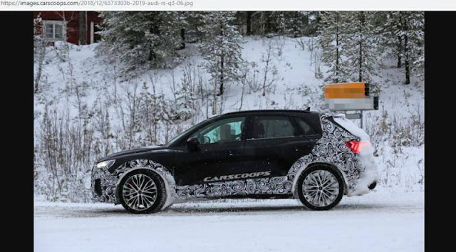 Nguyên mẫu thử nghiệm Audi RS Q3 2019 dầm mình trong trời tuyết lạnh ảnh 3