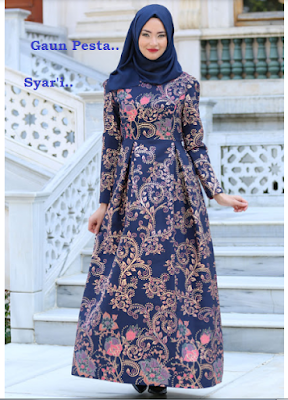 Dress batik panjang elegan