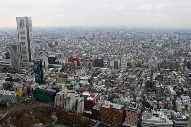 Vue de Tokyo depuis la tour gouvernementale