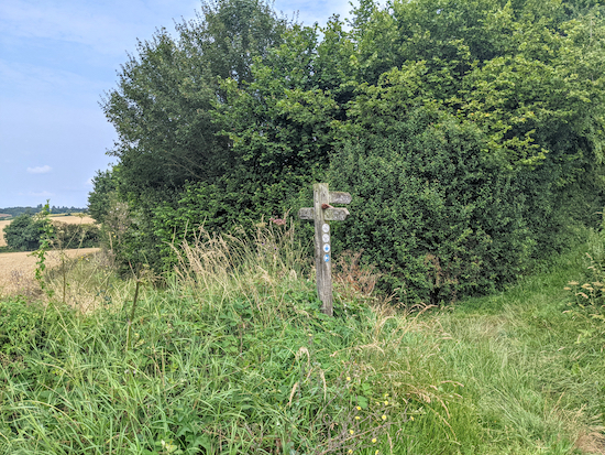 Keep right on the junction then follow Kings Walden bridleway 52
