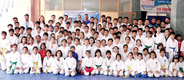 District level karate competition concluded at GBN School Sector 21-D Faridabad.