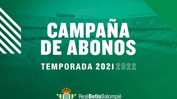 """El Betis lanza la campaña de Abonados 2021/2022: """"Demasiado tiempo echándote de menos"""""""