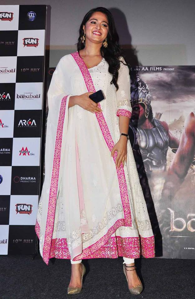 Actress Anushka Shetty at Baahubali Hindi Trailer Launch