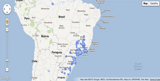 Google lat long tour brazil and prehispanic mexican cities with street view imagery of brazil available before mid august 2012 gumiabroncs Gallery