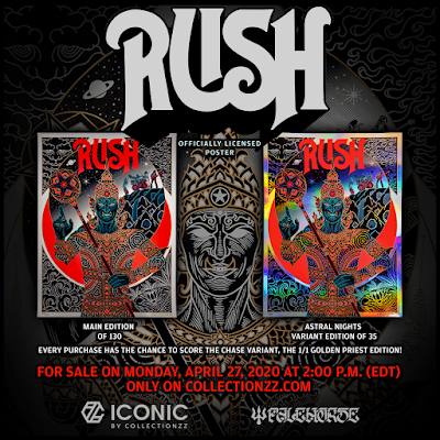 "RUSH ""The Temples of Syrinx"" Screen Print by Palehorse x Collectionzz"