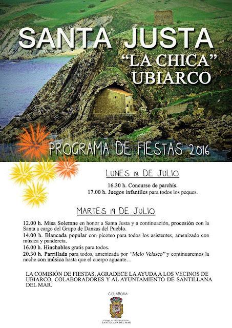 """Fiestas Santa Justa """"La chica"""" 2016 en Ubiarco"""
