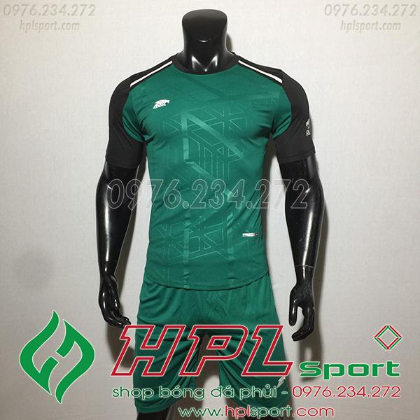 Áo ko logo Eureka Raki màu xanh lá