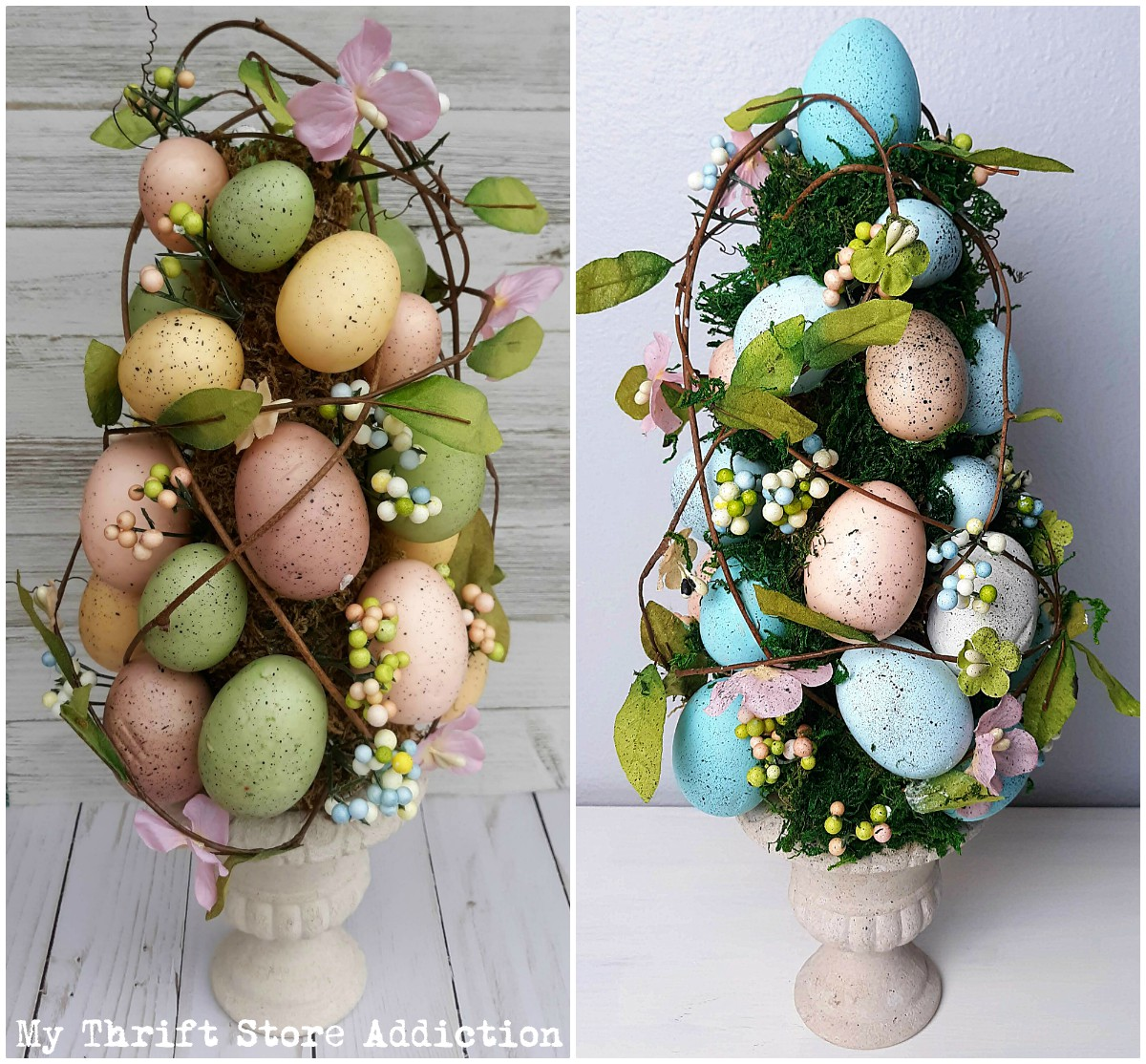 upcycled Easter decor