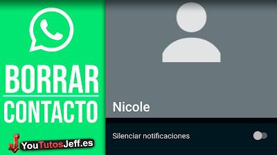 como eliminar contacto whatsapp