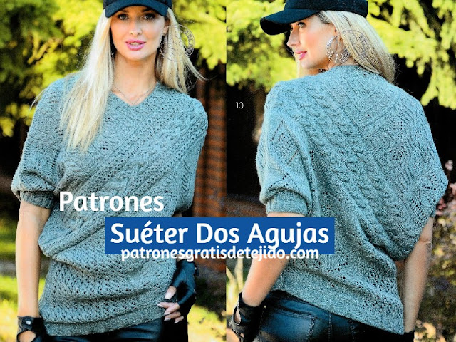 Patrones-sueter-mujer-tricot
