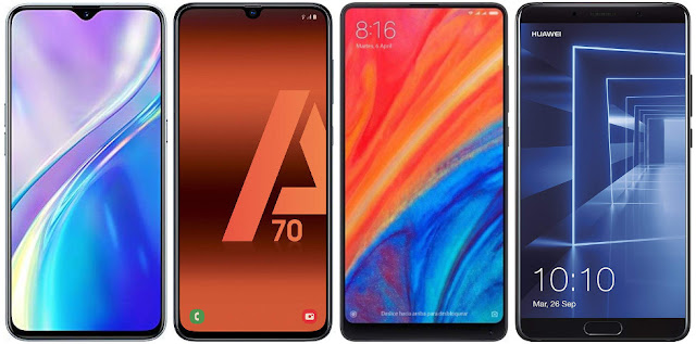Realme X2 vs Samsung Galaxy A70 vs Xiaomi Mi Mix 2s vs Huawei Mate 10