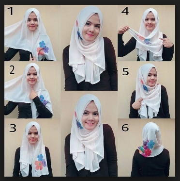 Tutorial hijab segi empat simple tanpa ciput