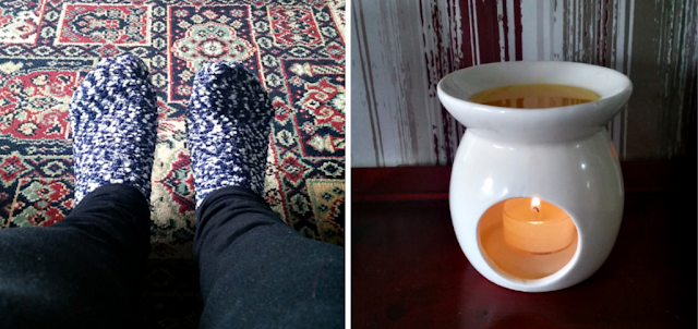 Cosy socks and a wax melt burner.