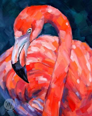 ferguson-flamingo-painting-merrill-weber