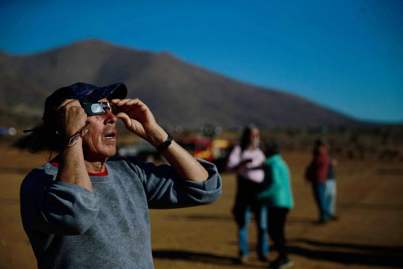 Cómo se verá el eclipse región por región