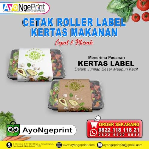 Cetak Roller Label Kertas Penggulung Makanan Custom Murah di Cipayung, Jakarta Timur