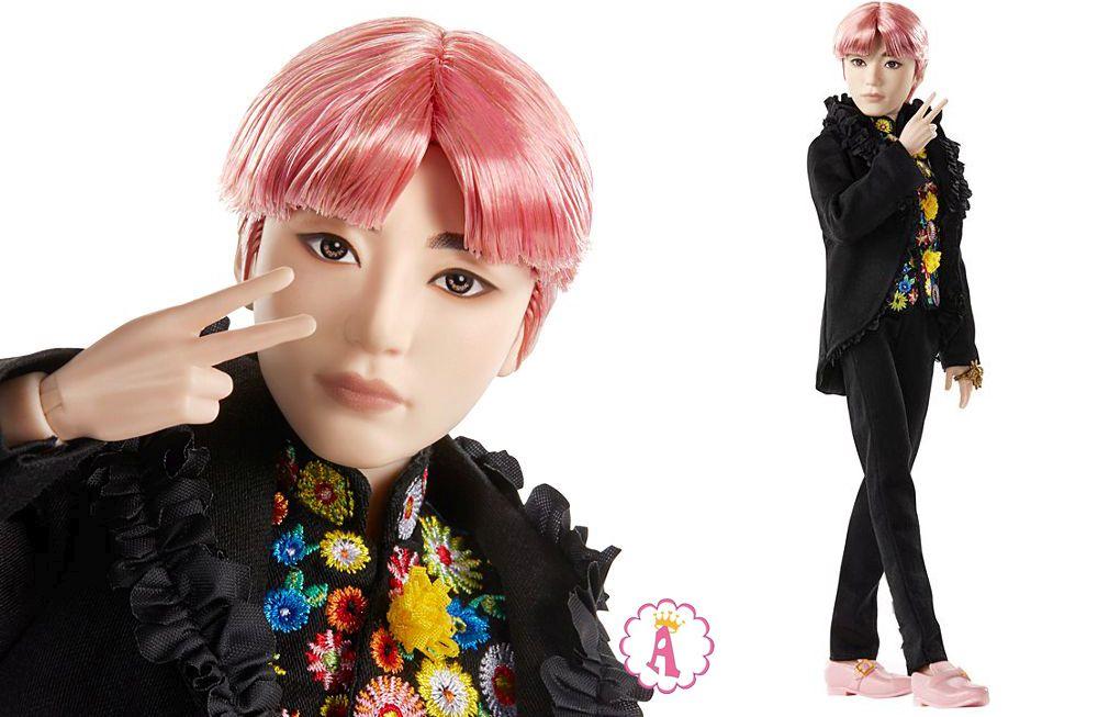 Кен с розовыми волосами Ви певец V BTS Prestige doll