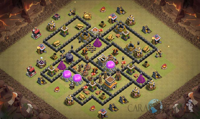 Base War TH 8 di Clash Of Clans Terbaru 2017 Tipe 3