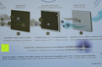 Aufkleber Info: Beurer LR 300 Luftreiniger mit HEPA Filter für 99,5% Filterleistung, ideal bei Heuschnupfen und zur Allergievorbeugung