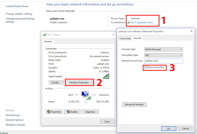 cara melihat password wifi di laptop windows 10