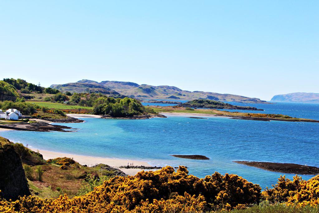 Turquoise Beach in Oban Scotland