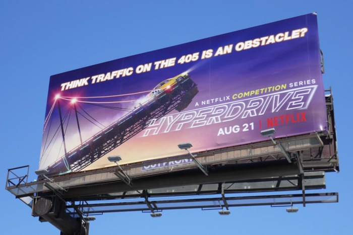 Hyperdrive traffic on 405 obstacle billboard