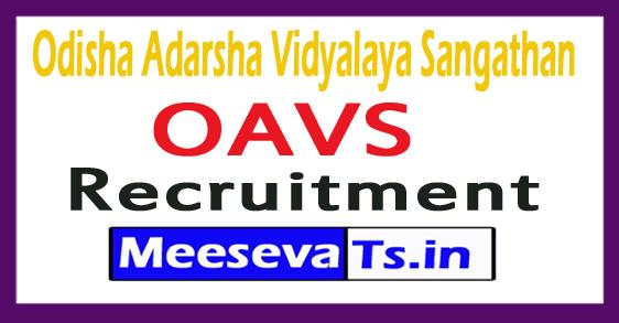 Odisha Adarsha Vidyalaya Sangathan OAVS Recruitment