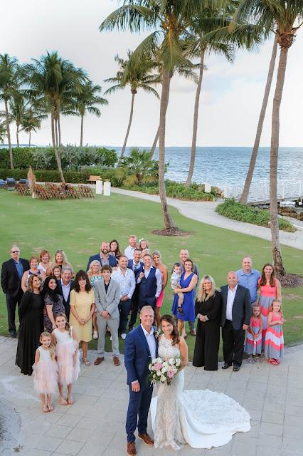 captiva island wedding ceremony group photo
