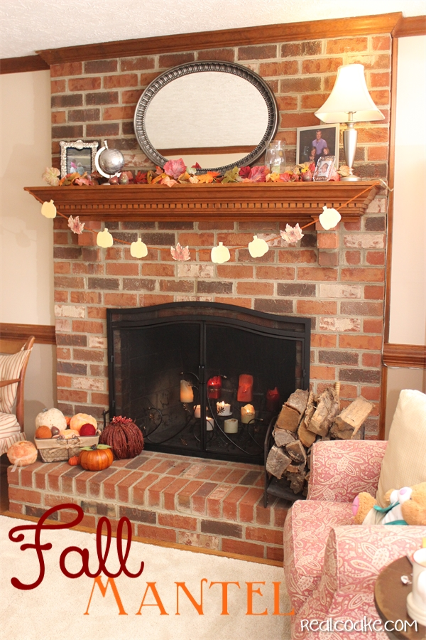 Simple Fall Decorating Ideas For A Mantel Using Pumpkins And Inexpensive Diy Crafts From Realcoake