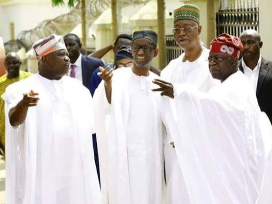 Tinubu, Ambode, Ribadu at Zahra Buhari's Wedding