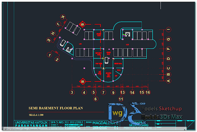 Performing arts center in AutoCAD
