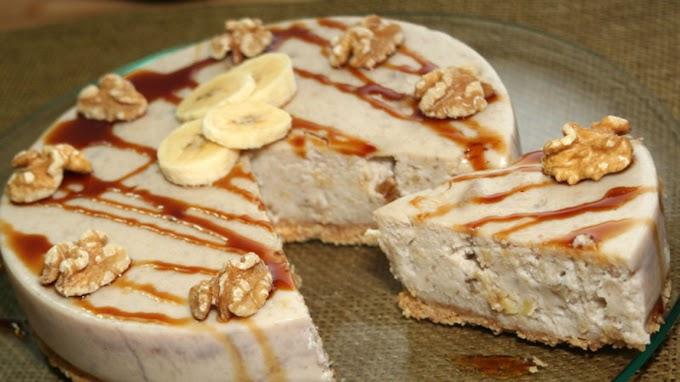 ★★★★★   Banana cheesecake with dulce de leche